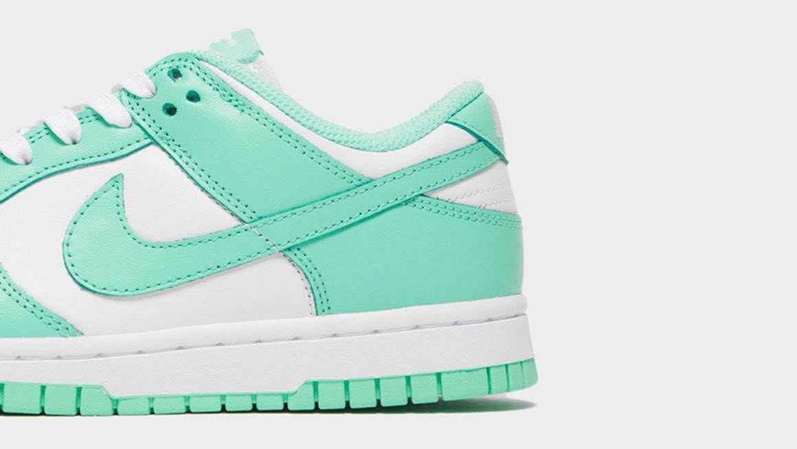 Dunk Low Pastel Green Glow Feature