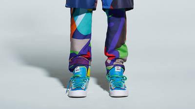 Kaws x Sacai x Nike Blazer Low Blue On Foot