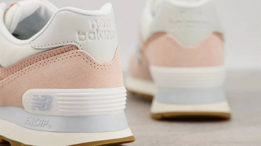 New Balance 574 Pink Blue Back
