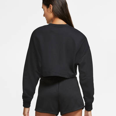 Nike Air Cropped Fleece Crew Sweatshirt CU6584-010 Back