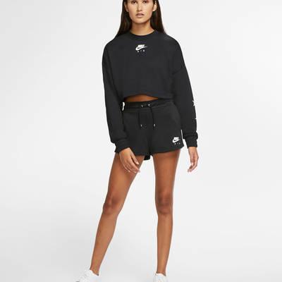 Nike Air Cropped Fleece Crew Sweatshirt CU6584-010 Full