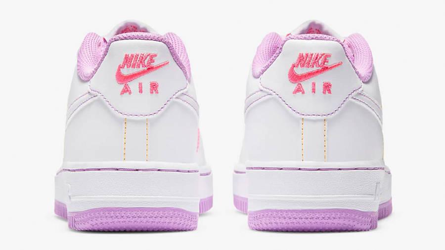 Nike Air Force 1 GS White Fuchsia Glow Back