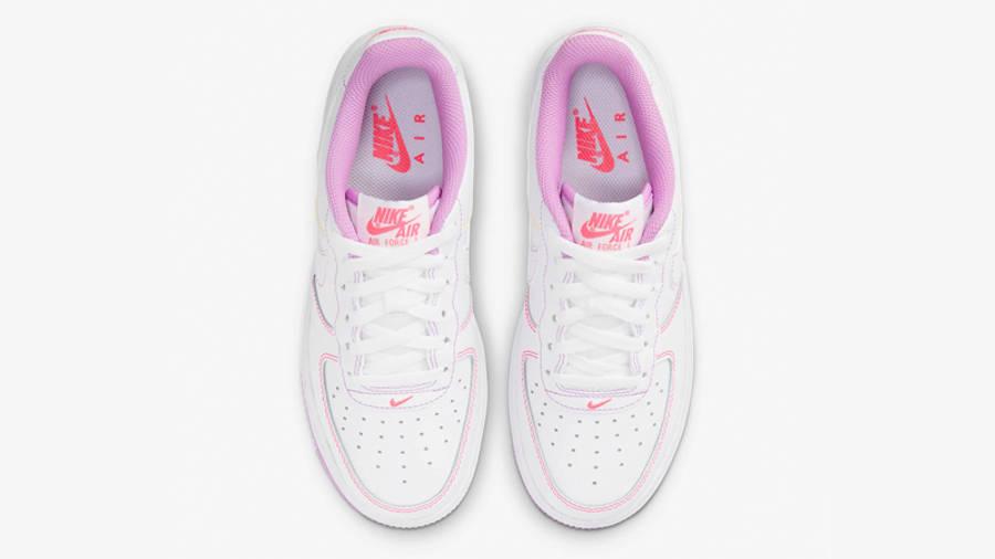 Nike Air Force 1 GS White Fuchsia Glow Middle
