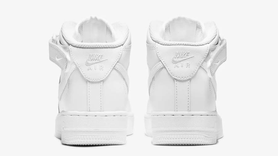 Nike Air Force 1 Mid LE GS White Back