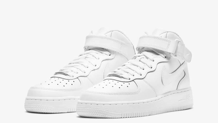 Nike Air Force 1 Mid LE GS White Front