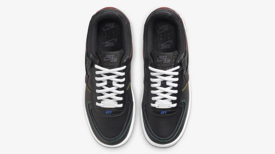 Nike Air Force 1 Shadow Multi Stitch Black Middle