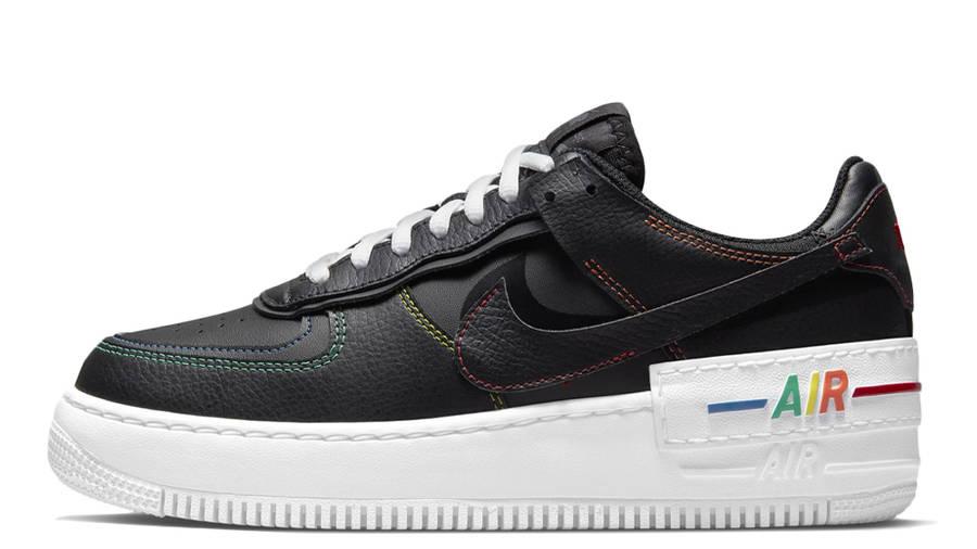 Nike Air Force 1 Shadow Multi Stitch Black