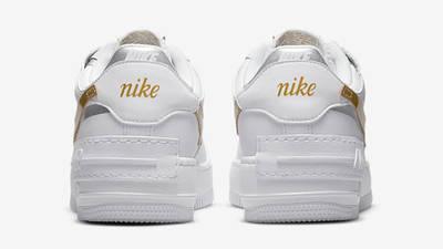 Nike air force one supreme Shadow White Metallic Gold Back