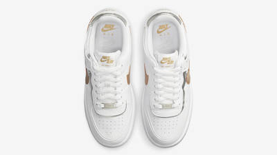 Nike air force one supreme Shadow White Metallic Gold Middle