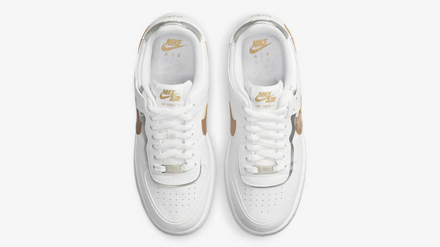 nike air force 1 shadow white metallic gold middle w900