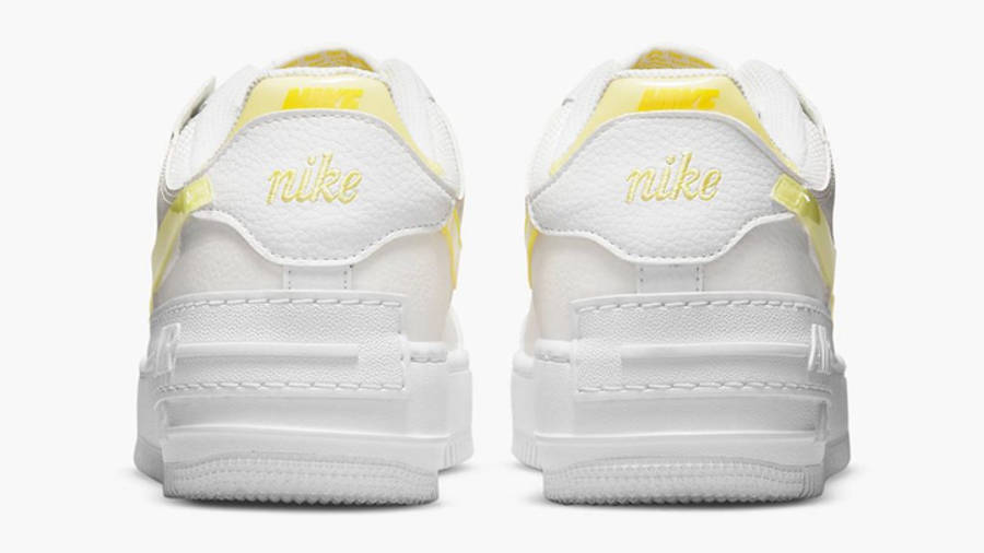 Nike Air Force 1 Shadow White Yellow Back