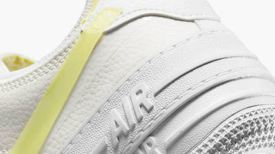 Nike Air Force 1 Shadow White Yellow Closeup