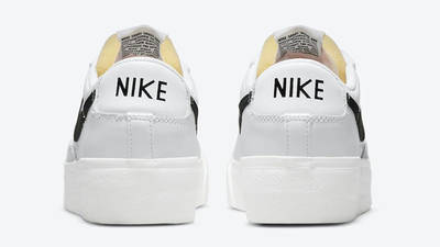 Nike Blazer Low Platform White Black Back