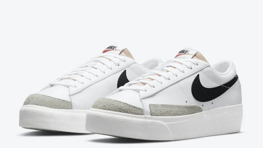 Nike Blazer Low Platform White Black Front