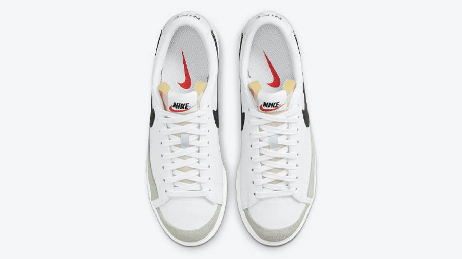 Nike Blazer Low Platform White Black Middle