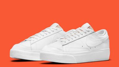 Nike Blazer Low Platform White Front