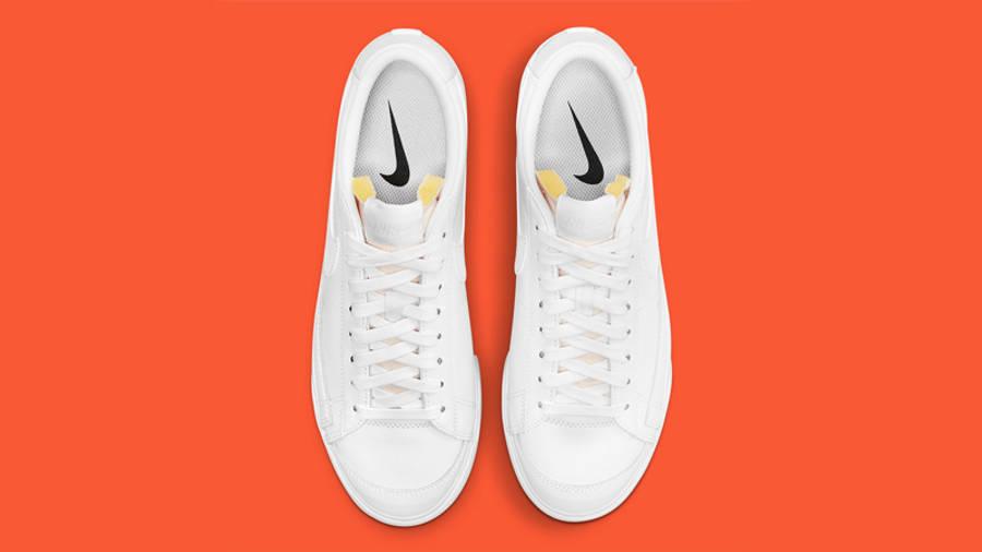 Nike Blazer Low Platform White Middle