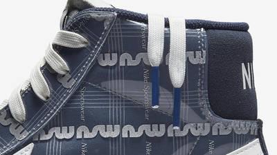 Nike Blazer Mid 77 Summer Showers Midnight Navy Closeup