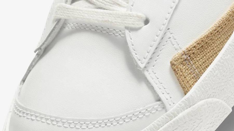 Nike Blazer Mid Burlap White Closeup