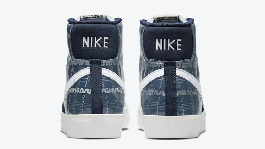 Nike Blazer Mid Midnight Navy Back