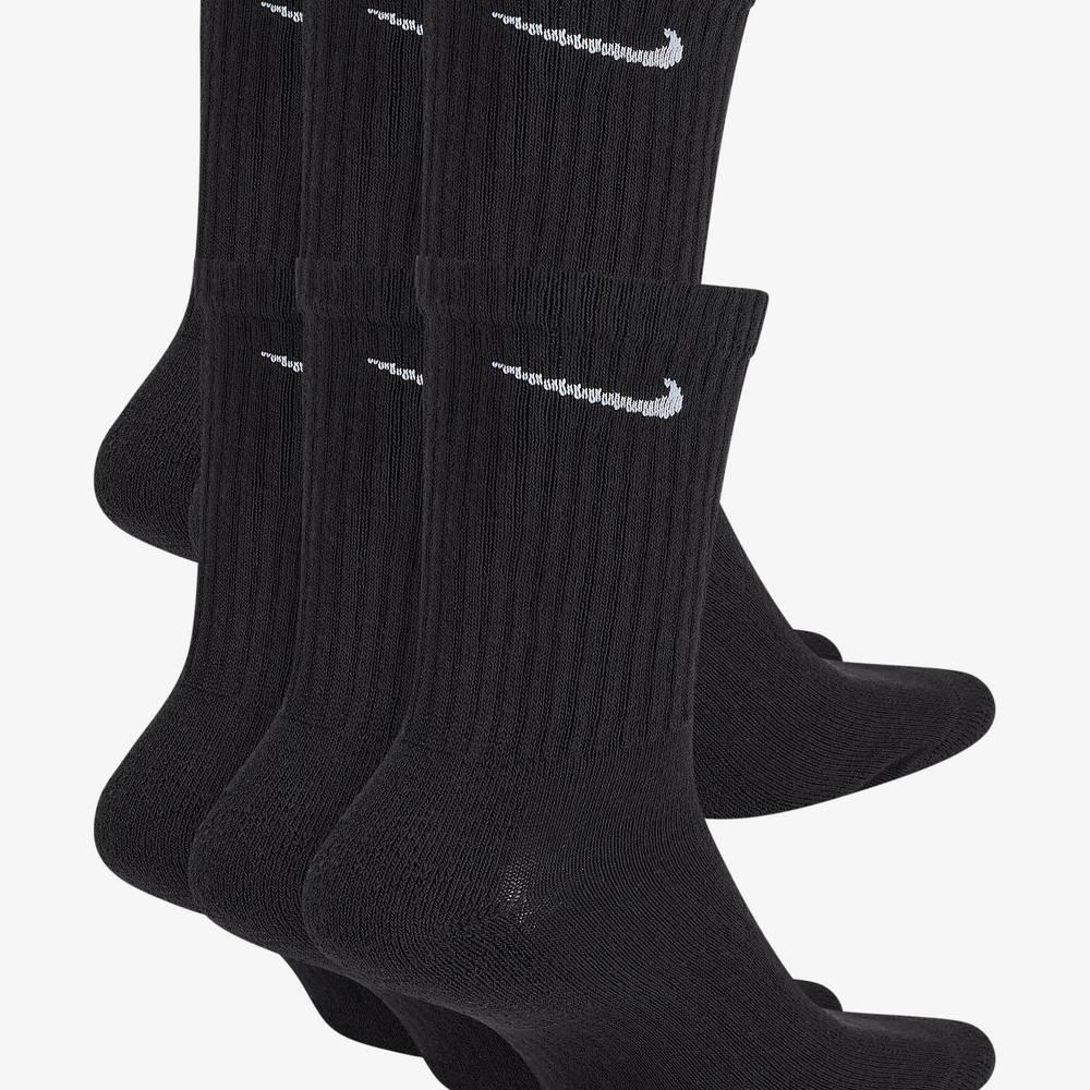Nike Everyday Cushioned Training Crew Socks Black Back