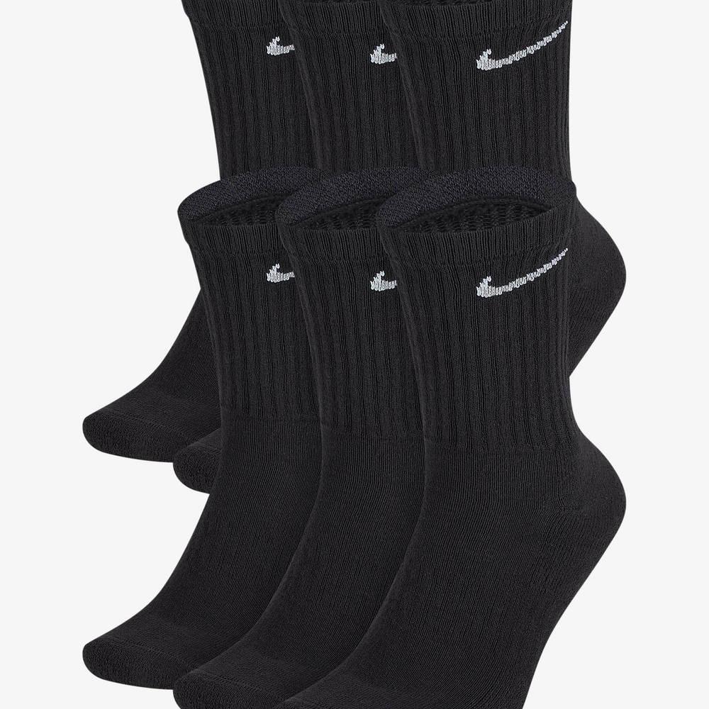 Nike Everyday Cushioned Training Crew Socks Black