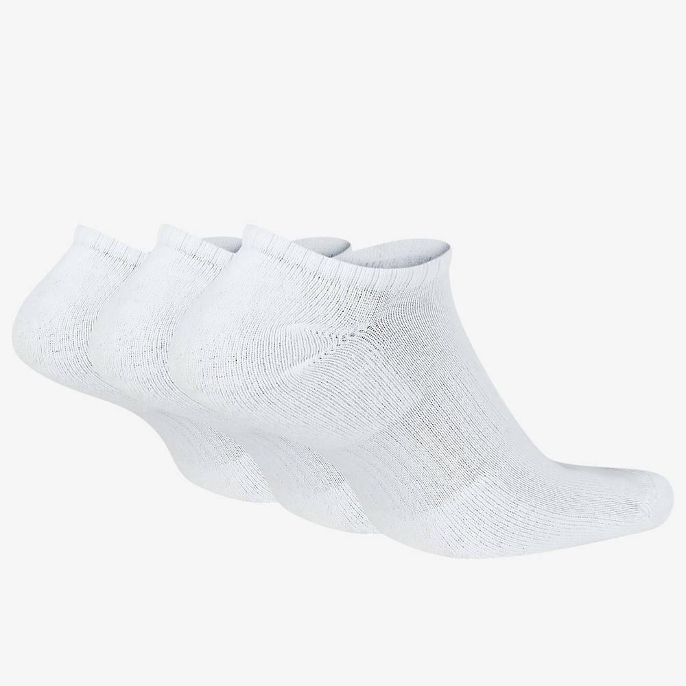 Nike Everyday Cushioned Training No-Show Socks SX7673-100 Back