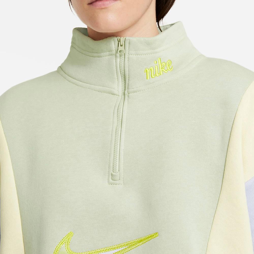 Nike Sportswear 14-Zip Fleece Sweatshirt DM3835-371 Detail