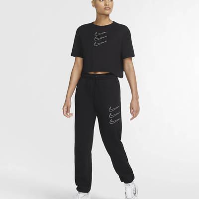Nike Sportswear Rhinestone Fleece Trousers Black Full