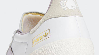 Nora Vasconcellos x adidas Gazelle ADV Cloud White Gum Closeup