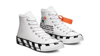 Off-White x Converse Chuck 70 Stripe White Front