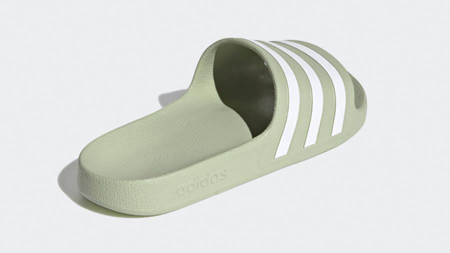 adidas Adilette Aqua Slides Halo Green Back