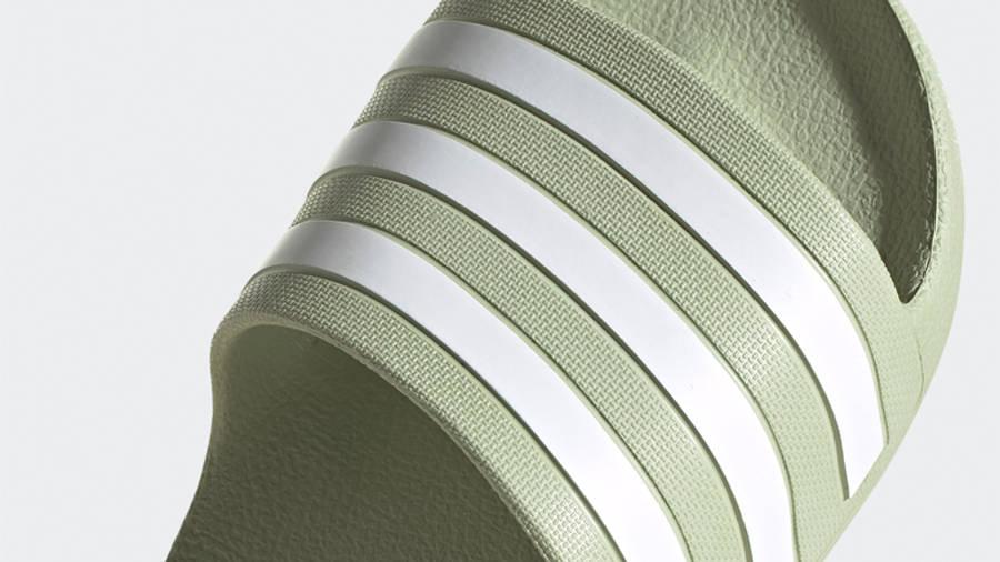 adidas Adilette Aqua Slides Halo Green Closeup
