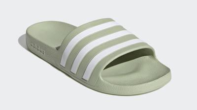 adidas Adilette Aqua Slides Halo Green Front