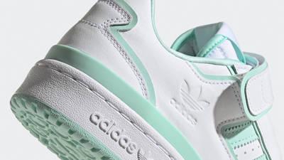 adidas Forum Plus White Clear Mint Closeup