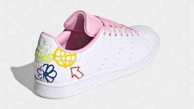adidas Stan Smith White True Pink Back