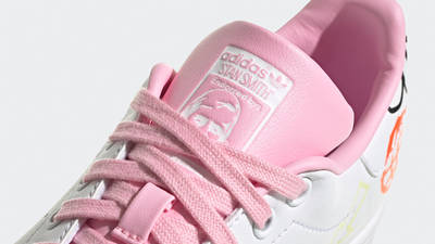 adidas Stan Smith White True Pink Closeup