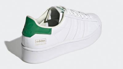 adidas Superstar Bold White Green Back