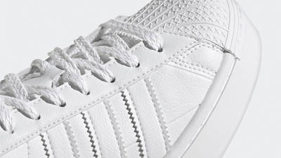 adidas Superstar Bold White Green Closeup
