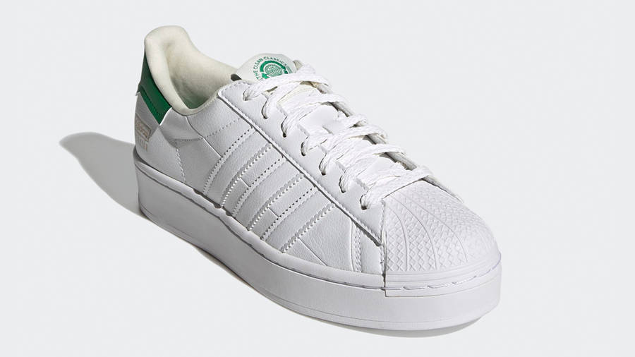 adidas Superstar Bold White Green Front