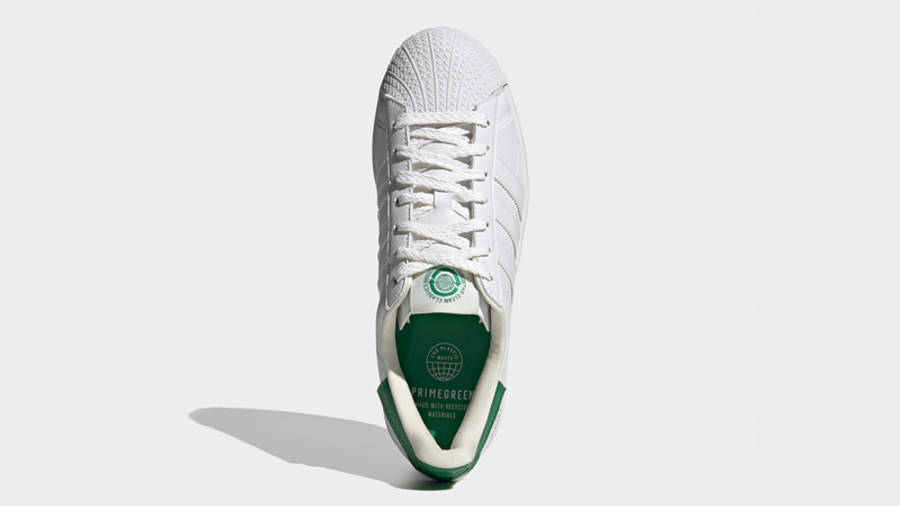 adidas Superstar Bold White Green Middle