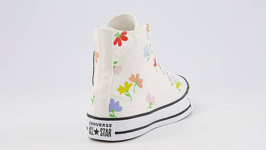 Converse Chuck Taylor All Star Hi Garden Print Egret Back
