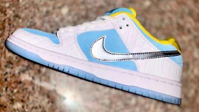 FTC x Nike SB Dunk Low Bright White Blue