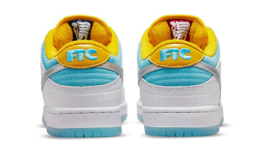 FTC x Nike SB Dunk Low White Blue Back