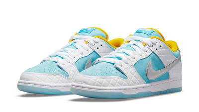 FTC x Nike SB Dunk Low White Blue Front
