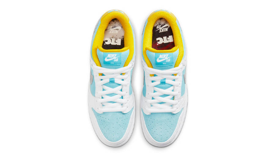 FTC x Nike SB Dunk Low White Blue Middle