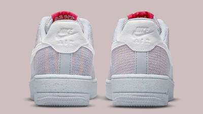 Nike Air Force 1 Crater Flyknit Grey Gym Red Back