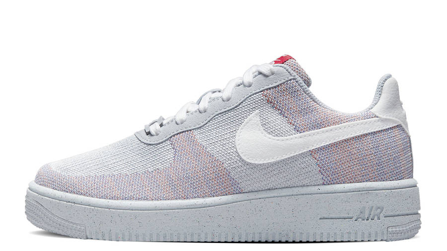 Nike Air Force 1 Crater Flyknit Grey Gym Red