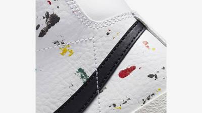 Nike Blazer Mid GS Paint Splatter Closeup