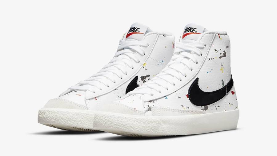 Nike Blazer Mid GS Paint Splatter Front